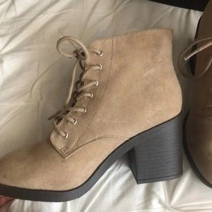 Forever 21 Tan Booties